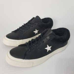 2 FOR 85 Converse One Star Faux Fur Black